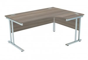 Fraction 2 Right Hand 160 Core Workstation - Grey Oak with Silver Frame