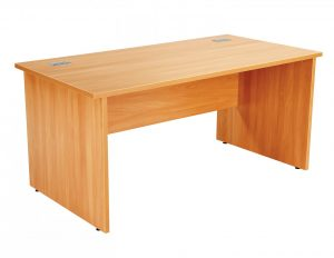Fraction Plus Panel End Rectangular 160 Desk - Beech