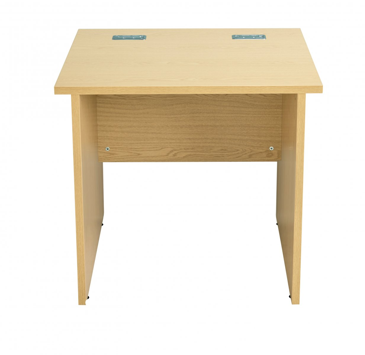 Fraction Plus Panel End Rectangular 80 Desk - Nova Oak