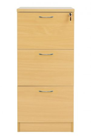 Fraction Plus 3 Drawer Filing Cabinet - Nova Oak