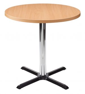 Orlando Round Dining Table - Beech with Chrome Column