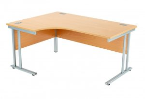 Fraction 2 Left Hand 160 Core Workstation - Beech with Silver Frame