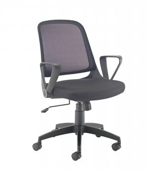 Start Mesh Back Task Chair with Folding Arms - Black