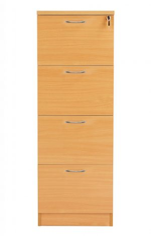 Fraction Plus 4 Drawer Filing Cabinet - Beech