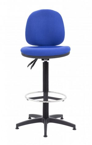 Factory Mid Back Static Draughting Chair - Royal Blue