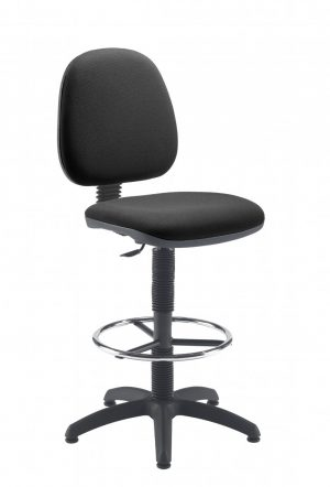 Factory Mid Back Hi-Rise Static Draughting Chair - Charcoal