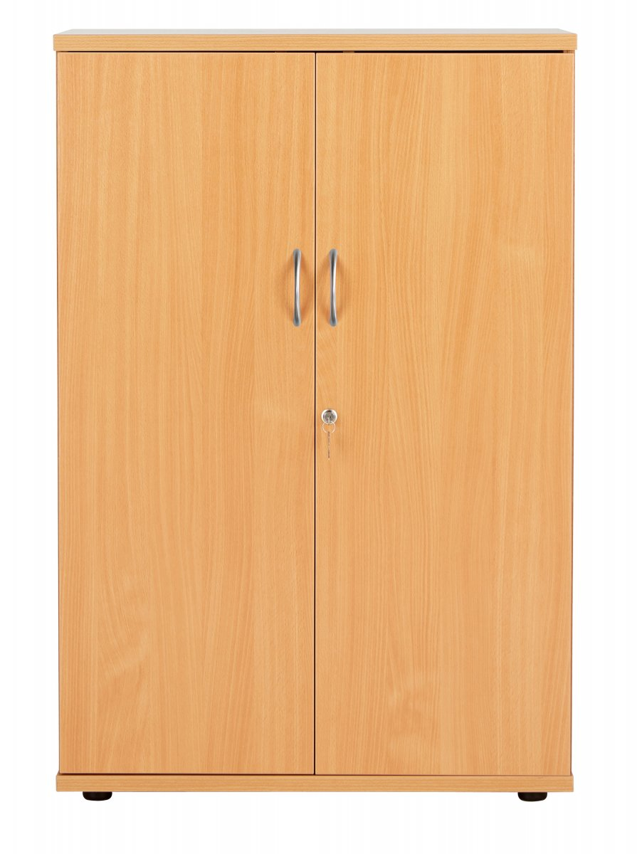 Fraction Plus Double Door 120 Cupboard inc. 3 Shelves - Beech