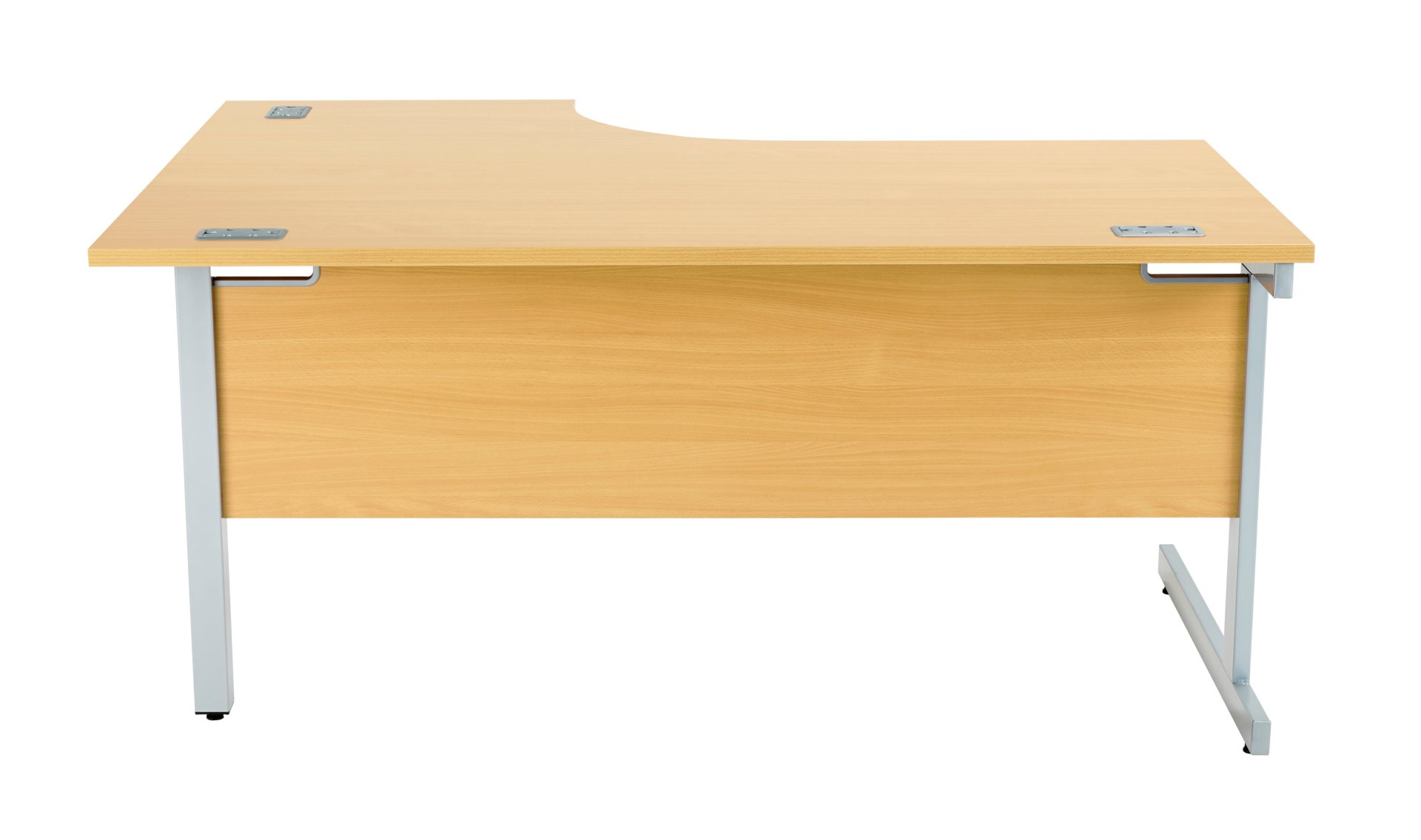 Fraction Plus Right Hand 160 Core Workstation - Nova Oak with Silver Frame