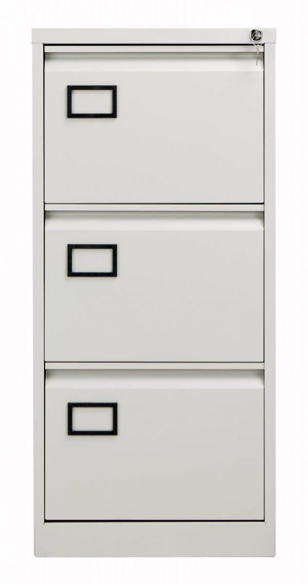 Bisley 3 Drawer Contract Steel Filing Cabinet - Goose Grey
