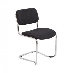 Summit Meeting Visitor Chair - Charcoal