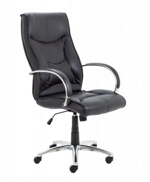 Whist Executive Leather High Back Chair - Black