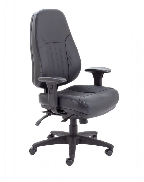 Panther Executive Leather High Back Chair - Black