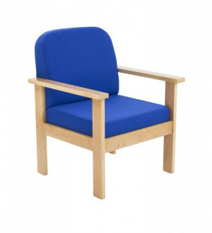 Juplo Wooden Frame Arm Chair - Charcoal