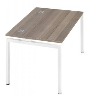 Fraction Bench Single 140 Starter Workstation - Grey Oak