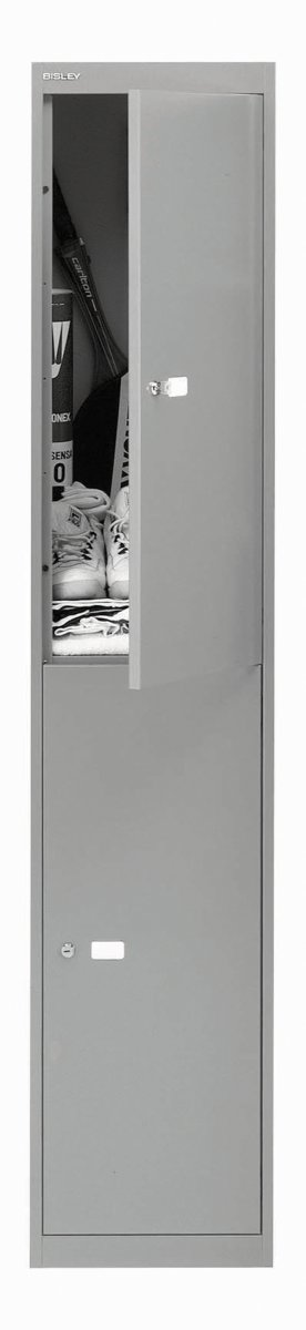 Bisley 2 Door 45.7 Locker - Goose Grey