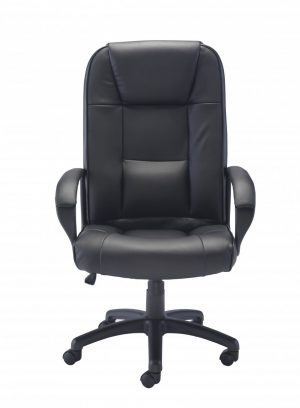 Keno Executive Leather High Back Chair - Black
