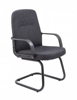 Canasta II Executive Fabric Medium Back Visitor Chair - Charcoal