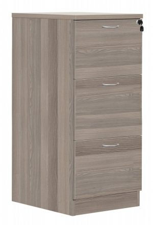 Fraction Plus 3 Drawer Filing Cabinet - Grey Oak
