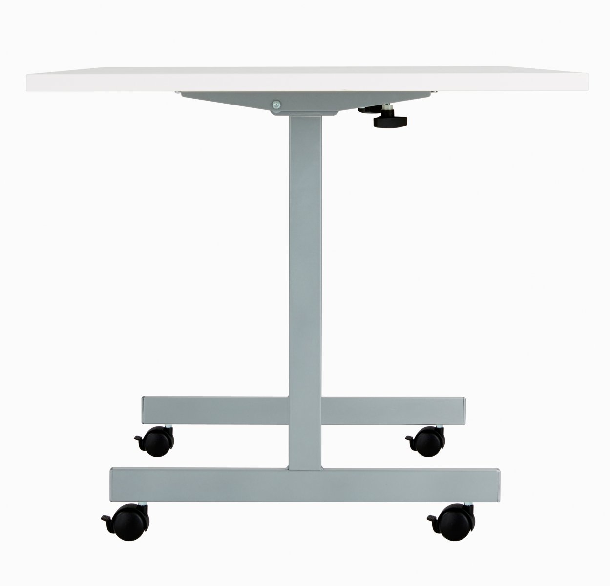 One Eighty Rectangular 160 x 80 Flip Top Meeting Table - White