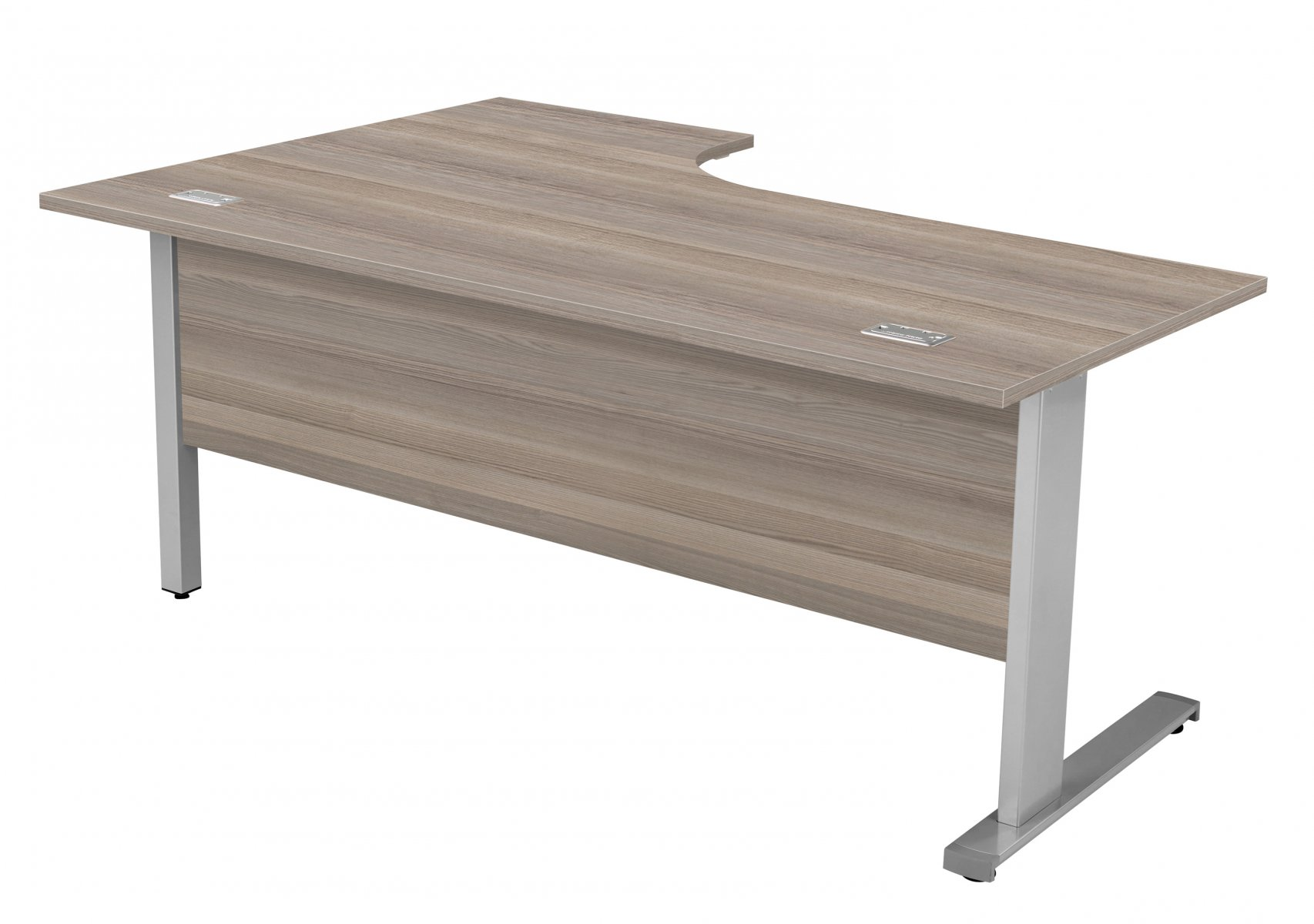Fraction Deluxe Right Hand 180 Core Workstation - Grey Oak