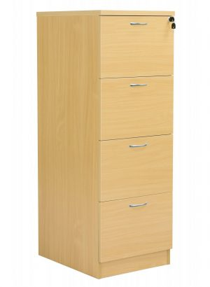 Fraction Plus 4 Drawer Filing Cabinet - Nova Oak