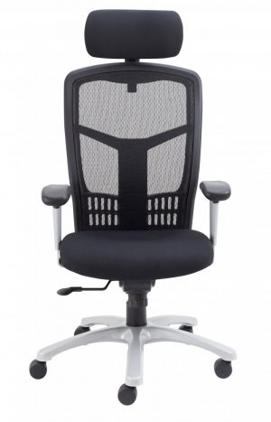 Fonz Mesh Back 24 Hour Chair with Adjustable Arms - Black