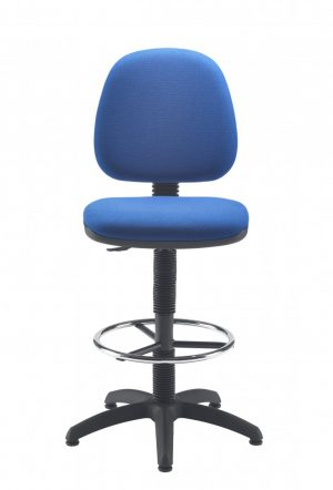 Factory Mid Back Hi-Rise Static Draughting Chair - Royal Blue