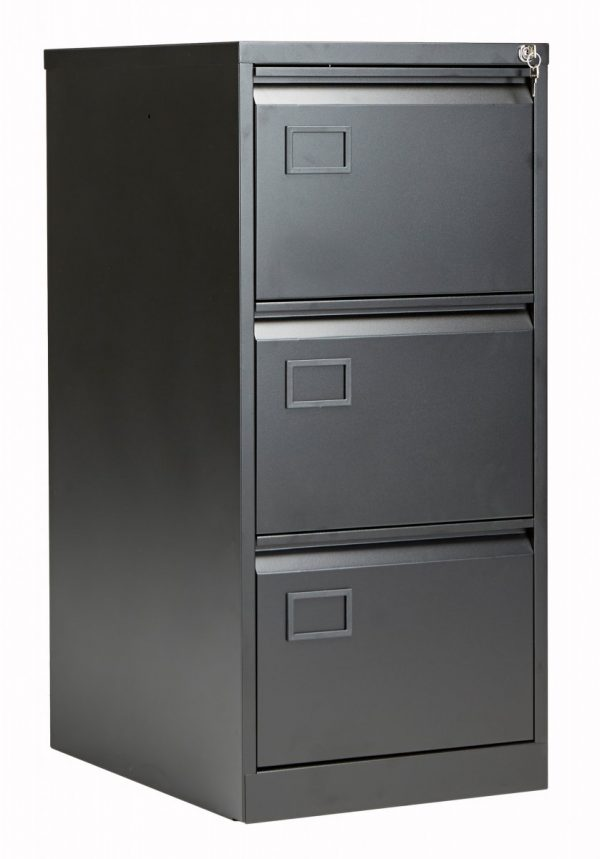 Bisley 3 Drawer Contract Steel Filing Cabinet - Black