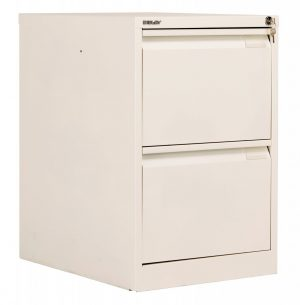Bisley 2 Drawer Classic Steel Filing Cabinet - Chalk