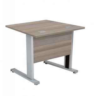 Fraction Deluxe Square 80 Desk - Grey Oak