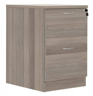 Fraction Plus 2 Drawer Filing Cabinet - Grey Oak