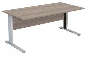 Fraction Deluxe Rectangular 180 Desk - Grey Oak