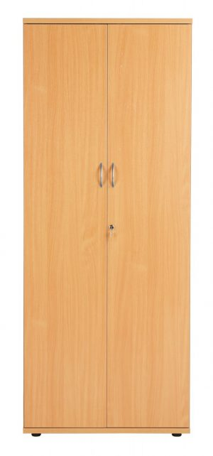 Fraction Plus Double Door 200 Cupboard inc. 4 Shelves - Beech