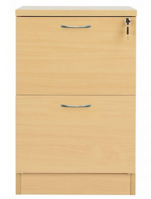 Fraction Plus 2 Drawer Filing Cabinet - Nova Oak
