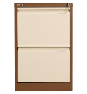 Bisley 2 Drawer Classic Steel Filing Cabinet - Coffee Cream