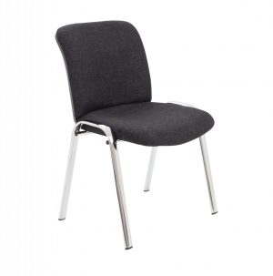 Pavilion Side Chair with Chrome Frame - Charcoal