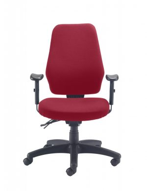 Call Centre High Back Posture Chair - Claret