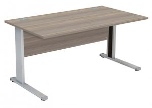 Fraction Deluxe Rectangular 160 Desk - Grey Oak