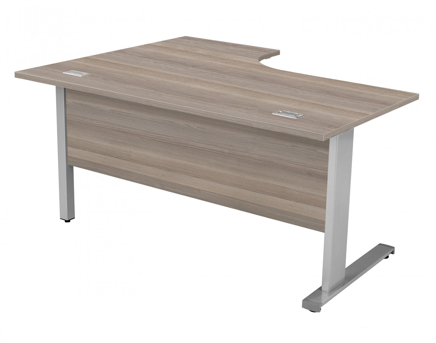 Fraction Deluxe Right Hand 160 Core Workstation - Grey Oak