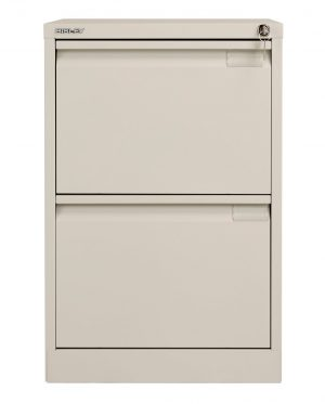 Bisley 2 Drawer Classic Steel Filing Cabinet - Goose Grey