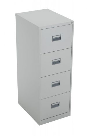 Talos Steel Storage 4 Drawer Filing Cabinet - Grey