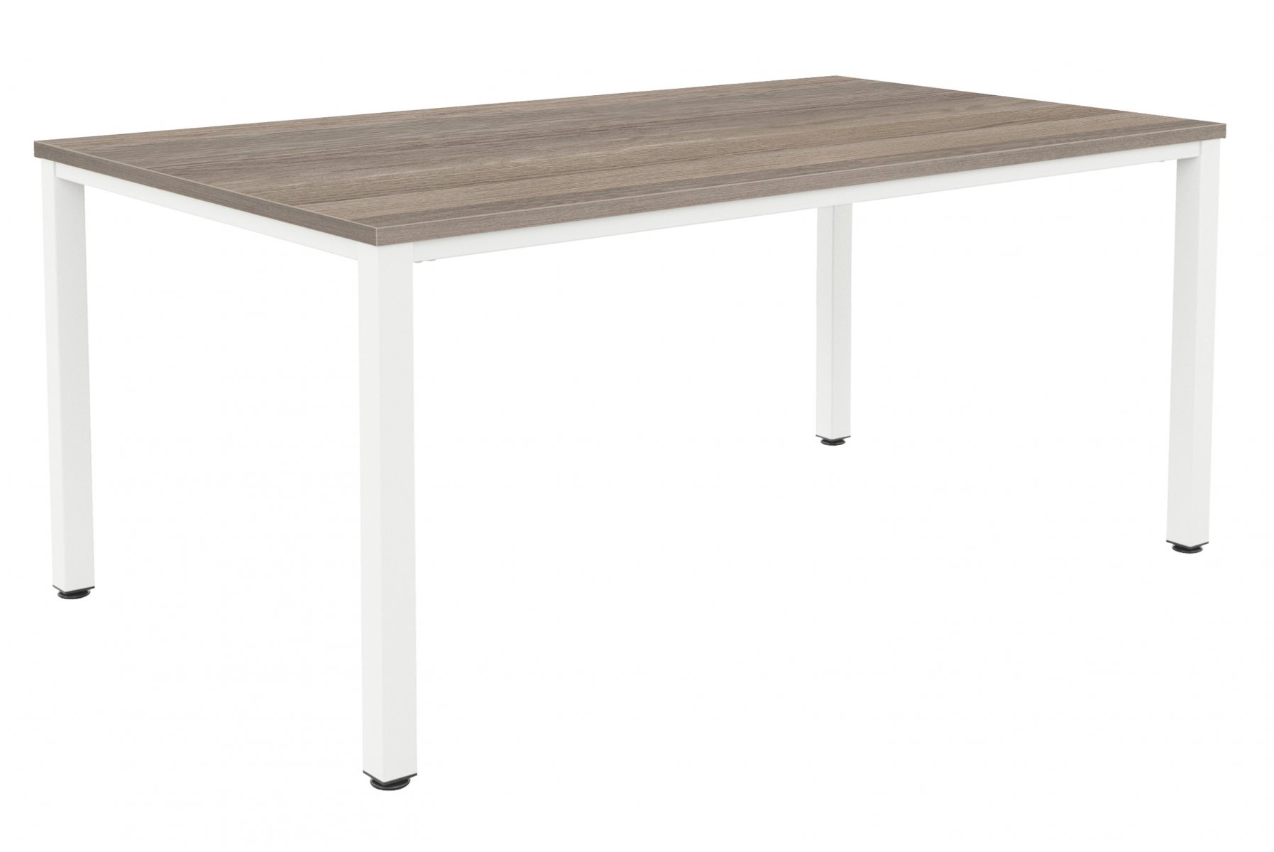 Fraction Infinity 200 x 100 Meeting Table - Grey Oak with White Legs