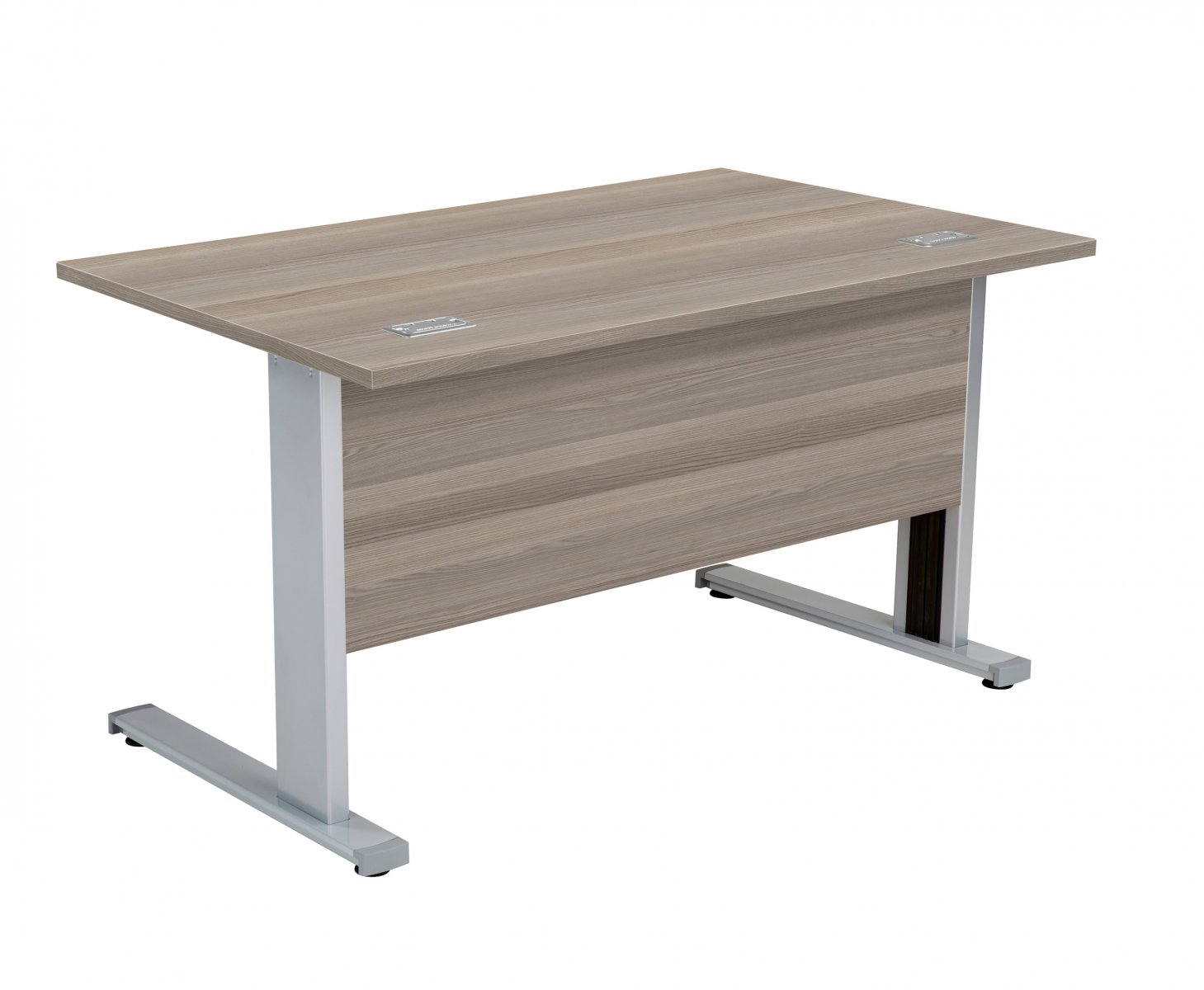 Fraction Deluxe Rectangular 140 Desk - Grey Oak