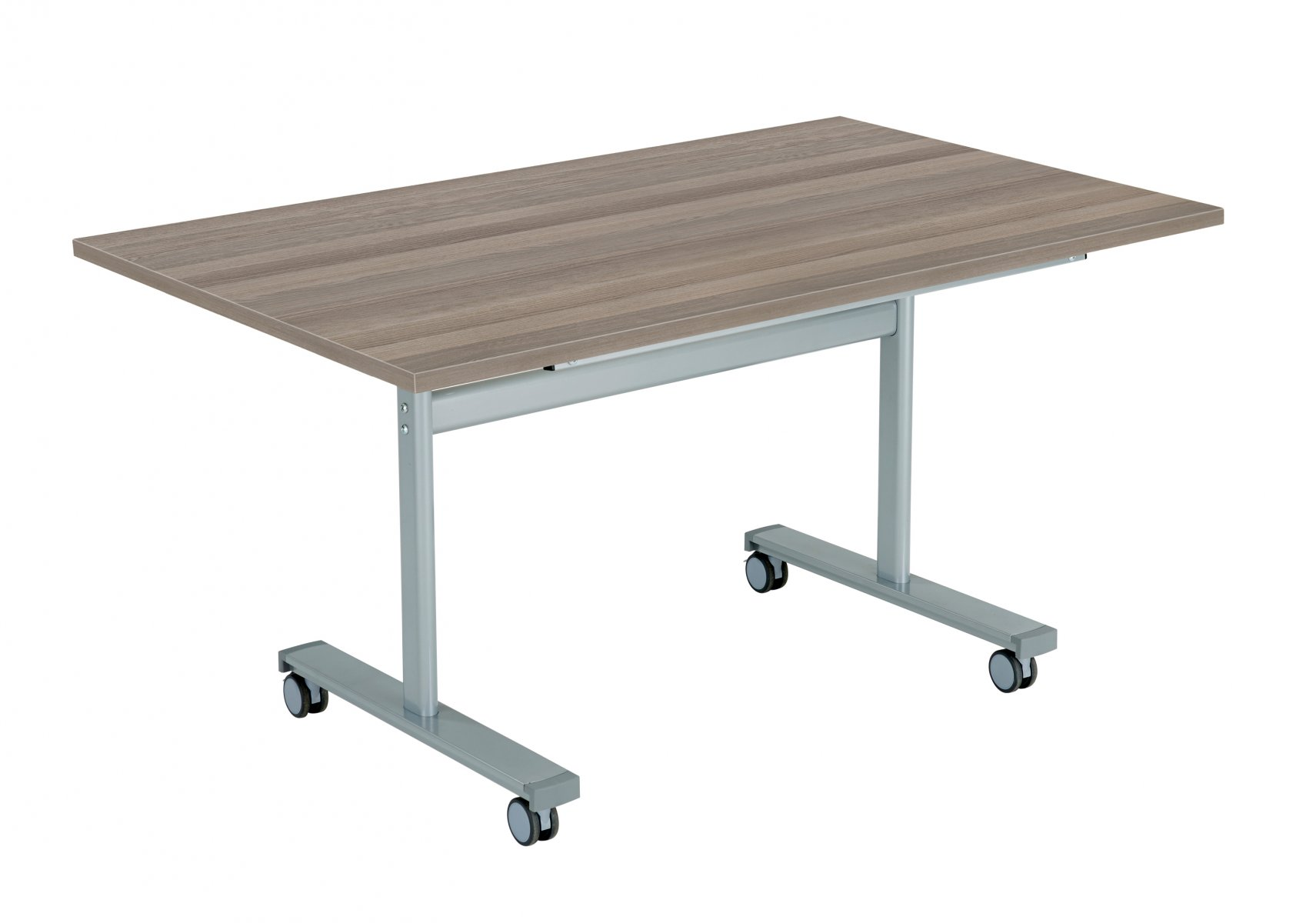 Gyrate Rectangular Flip Top 140 x 70 Meeting Table - Grey Oak