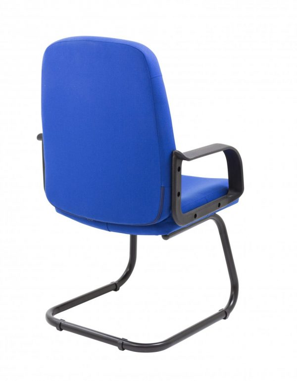 Canasta II Executive Fabric Medium Back Visitor Chair - Royal Blue