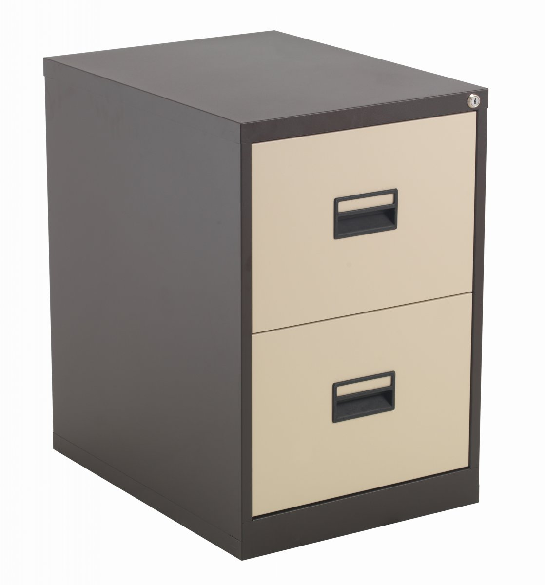 Talos Steel Storage 2 Drawer Filing Cabinet - Coffee Cream