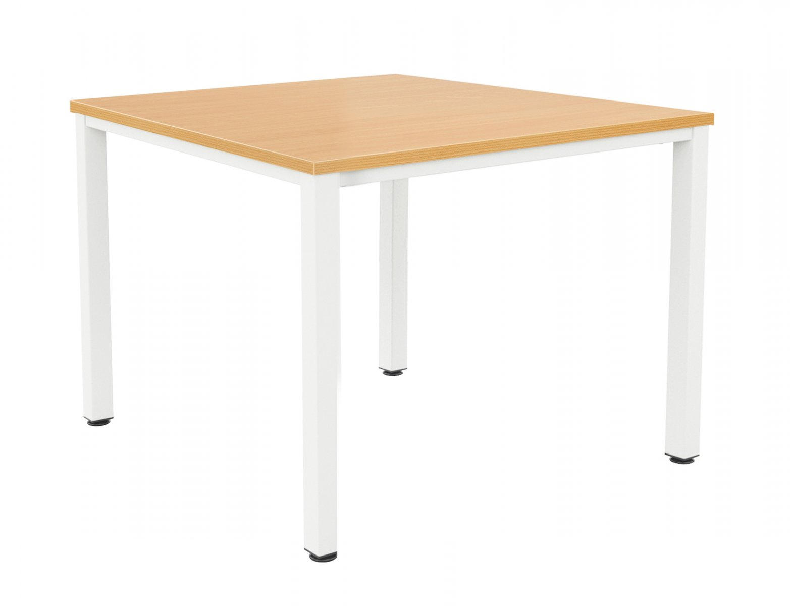 Fraction Infinity 120 x 120 Meeting Table - Beech with White Legs