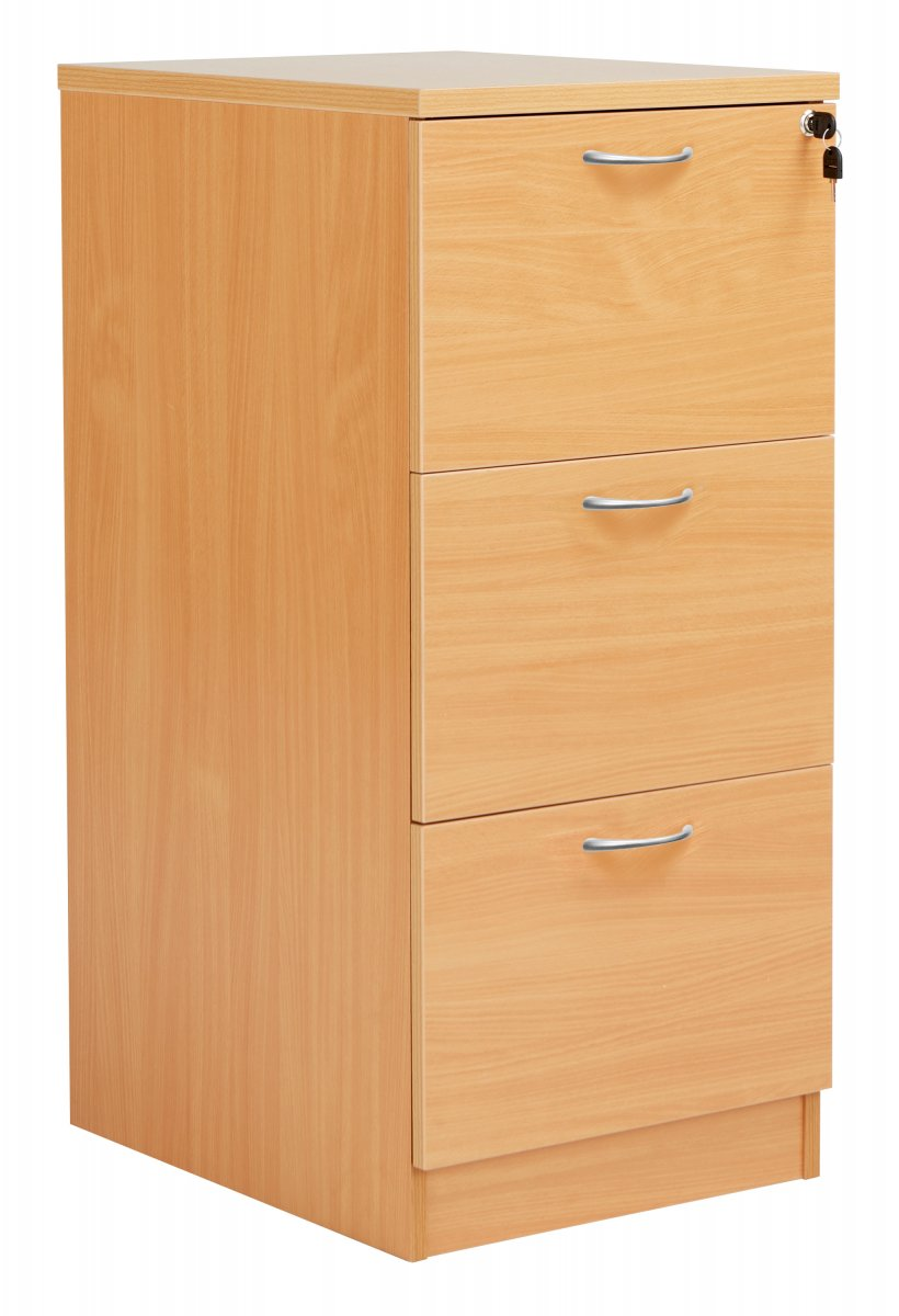 Fraction Plus 3 Drawer Filing Cabinet - Beech