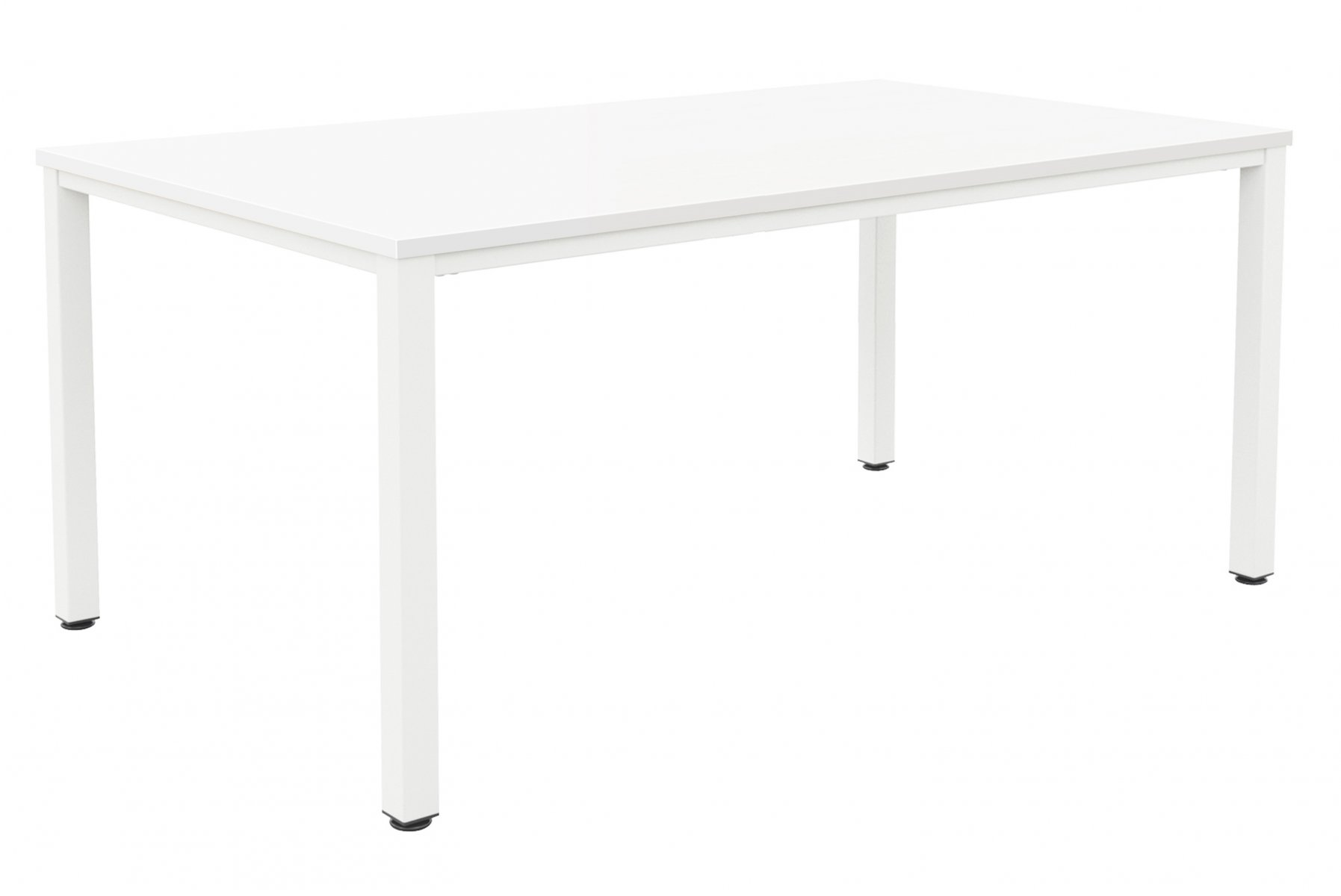 Fraction Infinity 160 x 80 Meeting Table - White with White Legs