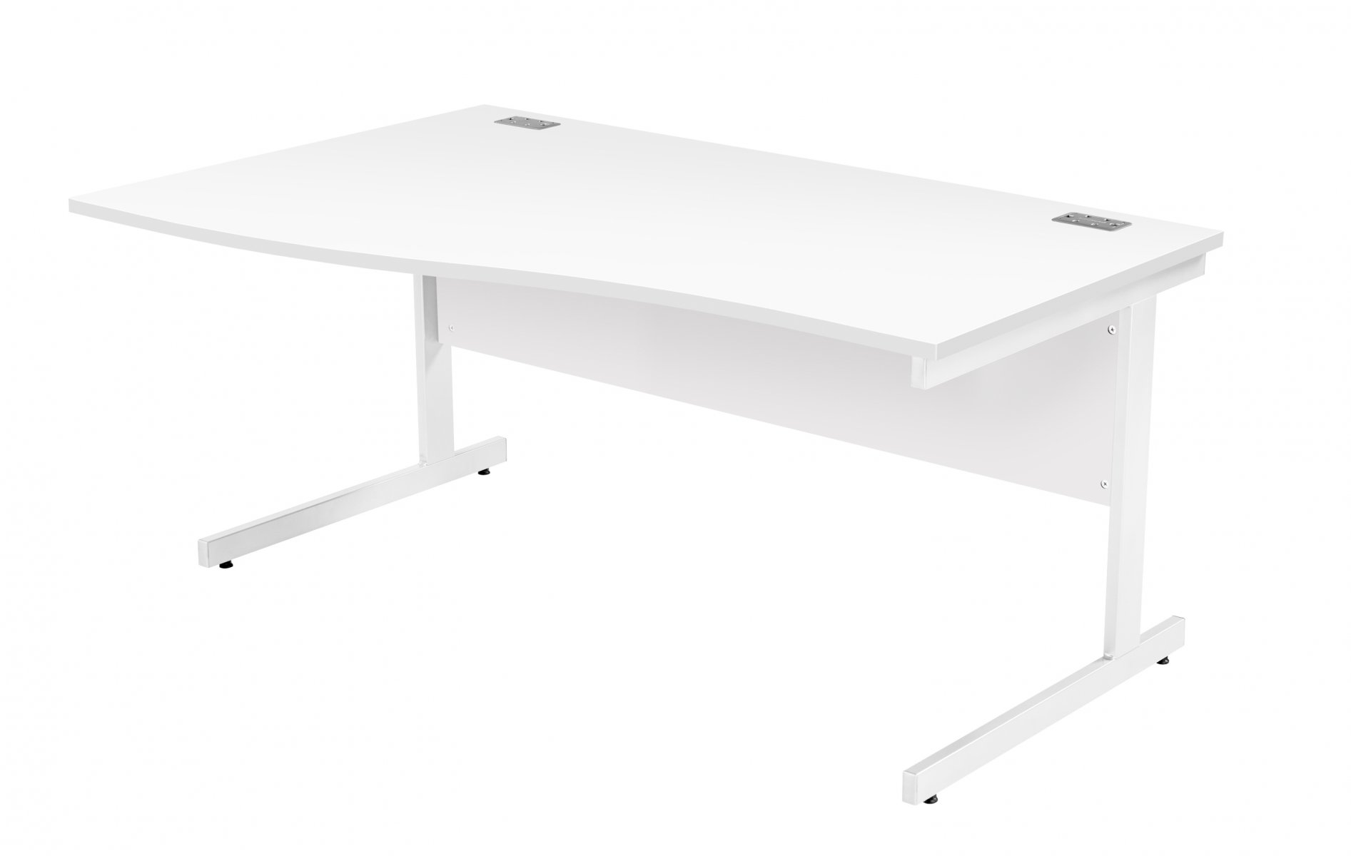 Fraction Plus Left Hand 160 Wave Workstation - White with White Frame